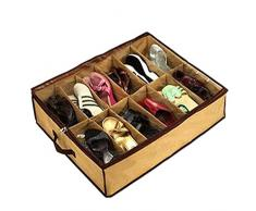 Local Makes A Comeback Caja de zapatos a prueba de polvo de 12 celdas Sotana, bolsa de almacenamiento no tejida para el hogar Organizador, Beige, 20 * 25 * 2 cm