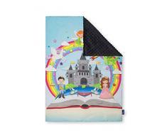 Pepi Leti 685843716129 - Manta infantil (100 x 75 cm), diseño de princesa, color gris oscuro