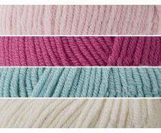 De manta de Kokobino Kit para tejer muñecas de la cuna o cama infantil funda de punto (Coy de la colmena, 12-48 más posibilidades sin fin)
