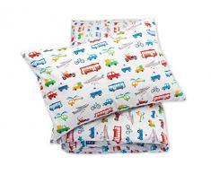 Pepi Leti 685843715375 - Juego de cama infantil, diseño de vehículos