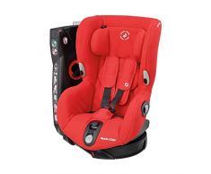 Maxi-Cosi Axiss Silla coche giratoria 90 grados y contramarcha grupo 1, Silla auto bebé 9 meses- 4 años (9-18 kg), reclinable en Múltiples posiciónes, color Nomad Red