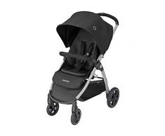 Maxi-Cosi Gia Cochecito de 0 meses a 22 kg, plegable con una sola mano, reclinable con posición para dormir, cesta grande, color essential black