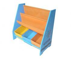 Kiddi Style Librería Infantil y Almacenaje - Madera - par ninos-Diseño de ceras de colores