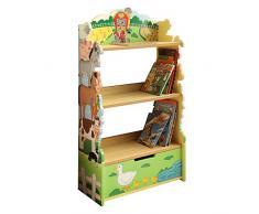 Estantería de madera con diseño de granja Fantasy Fields para niños TD-11329A