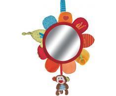 Haba 302995 haba 302995 - Parte Cojín mono Lino | bebé de juguete con espejo grande pantalla y muchos juguetes. Para descubrir | motorikspielzeug a partir de 6 meses, Multicolor
