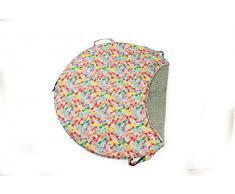 1buy3 - Manta de juegos suave y cómoda, gris + libélula, 120 cm de diámetro