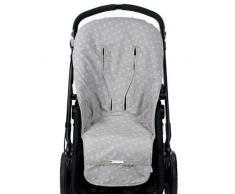 Pasito a Pasito - Funda de silla universal , color flor gris