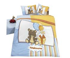 Home De Bleu 100000141033 - Juego de funda de almohada y funda de edredón para cama infantil (100 x 135 cm)