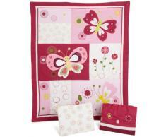 Lambs & Ivy Bedtime Originals rosa mariposas juego de ropa de cama (paquete de 3 piezas)