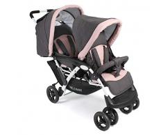 CHIC 4 BABY 274 67 Duo - Carrito convertible en hermano (con bolsa de transporte), color rosa y gris