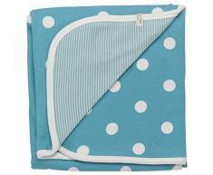 Pigeon - Organics para Niños, Manta para bebé, 72 x 70 cm, azul (azul)