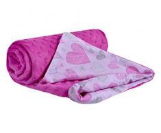 Medi Partners 5902768189551 Minky - Manta para bebé (100% algodón, 75 x 100 cm, doble cara, mullida), color rosa