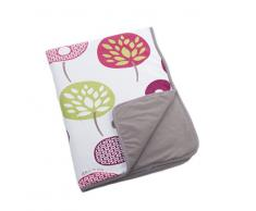 Doomoo Dream - Manta para bebé (algodón) verde rosa estampado (Tree Berry) Talla:100 x 75 cm
