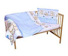 cosing 332 - 019 - 149 Juego de ropa de cama infantil algodón 2 piezas de dos Osos, color azul