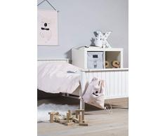 Jollein - Funda de edredón y funda de almohada, 140 x 200 cm, funda de edredón y funda de almohada de 140 x 200 cm, diseño de animales salvajes, color gris