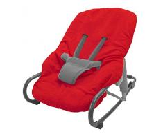 Looping funda de rizo para silla mecedora rojo