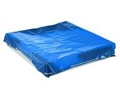 Roba - Caja de arena para niños, disponible en varios tamaños y modelos azul Abdeckplane klein