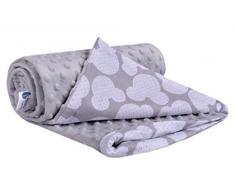 Medi Partners - Manta para Gatear (100% algodón, 75 x 100 cm, Doble Cara, Multifuncional, para Cochecito de bebé, Suave y mullida (Miki con Minky)