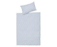 Ropa de cama de 2 piezas Schardt 13 609 1/761 Circle Star para cama infantil, color azul
