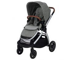 Maxi-Cosi Adorra Carrito bebé recién nacido hasta 3.5 años, cochecito plegable y reclinable en posición acostada, hamaca acolchada e gran cestilla de compra, color nomad grey