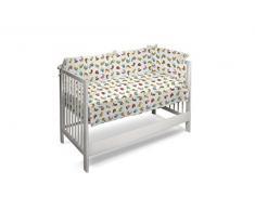 Petit Lazzari Hansel - Set de colcha - edredón y protector para cuna de 60 x 120 cm, diseño Animalitos, color turquesa
