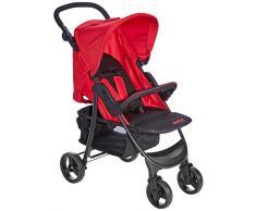 Asalvo 12531 - Silla de paseo plegable y multifuncional, Unisex, Rojo