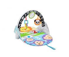 Fisher-Price- Gimnasio Activity 2 en 1, Manta de Juego para bebé (Mattel FXC14) Infantil, Color Azul (