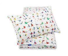 Pepi Leti 685843716075 - Juego de ropa de cama infantil, diseño de fútbol, multicolor