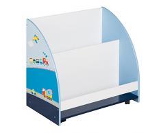 Roba piloto de carreras, serie muebles infantiles en azul y blanco, varios muebles para pequeños fanáticos de los coches azul Auto Blau