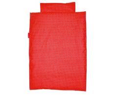 Funda de Edredón Juego de Taftan polietileno abrir y cerrar la tapa 100 x 135 cm y pantalla a juego para la cuna o cama infantil multicolor rosso