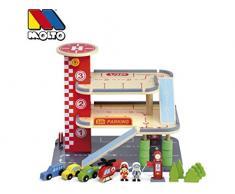 M MOLTO Parking de juguete de Madera Grand Parking