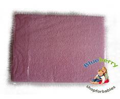 BlueberryShop Tejido de Rizo Sábana Ajustada Cama para Bebé Niño 60 X 120 cm (23,5 x 47) (0-7Yrs) (120 x 60 x 16 cm) Rosa