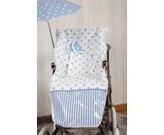 Babyline Carrusel - Colchoneta para silla de paseo, color azul