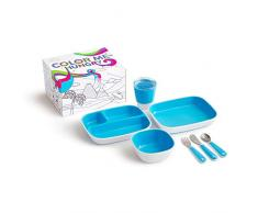 Munchkin 051913 - Set de vajilla para niños, azul
