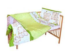 cosing 332 - 019 - 148 Juego de ropa de cama infantil algodón 2 piezas - Dos osos, color verde