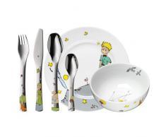 WMF El Principito - Vajilla para niños 6 piezas, incluye plato, cuenco y cubertería (tenedor, cuchillo de mesa, cuchara y cuchara pequeña) (WMF Kids infantil)