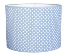 Taftan - Pantalla para lámpara de techo colgante, diseño de lunares (35 cm de diámetro), color azul