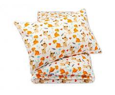 Pepi Leti 685843716082 - Juego de cama infantil, diseño de perro y gato, multicolor