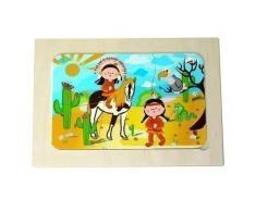 Hess 14881 - Juguete de madera, puzzle indios