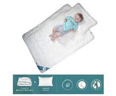 Sevira Kids - Edredón y almohada infantil de percal 100% bambú