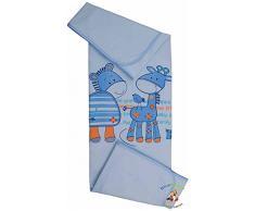 BlueberryShop Summer Collection - Manta de algodón para bebé, color azul