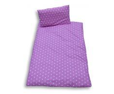 Ideenreich 2151 - Juego de ropa de cama (100 x 135 cm y 40 x 60 cm, diseño de estrellas), color rosa