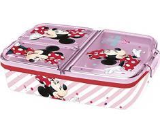 Stor | Minnie Mouse (Disney) | Sandwichera con 3 Compartimentos para niños - lonchera Infantil - Porta merienda - Fiambrera Decorada