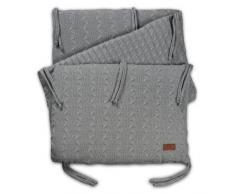 Baby s Only cama nido punto trenzado – para cama anchuras de 60 – 70 cm gris gris