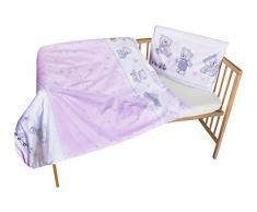 cosing 332 - 019 - 154 Juego de ropa de cama infantil algodón 2 piezas - Oso Juego, Color Rosa
