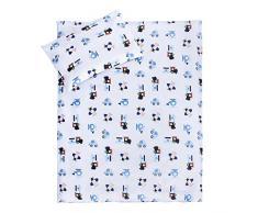 Lulando - Juego de cama infantil 2 piezas (almohada y funda nórdica) Airplanes/Dots