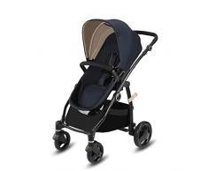 Cbx Leotie Pure - Cochecito con asiento reversible y capazo para recién nacidos, incluye cubierta para lluvia, desde el nacimiento hasta los 15 kg, Jeansy Blue