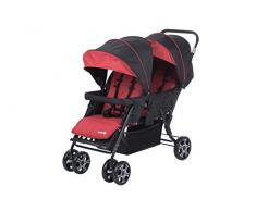 Safety First TEAMY DUO Ribbon Red Chic - Silla de paseo DUO, color rojo