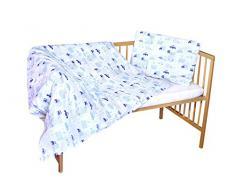 cosing 332 - 019 - 150 Juego de ropa de cama infantil algodón 2 piezas - Coches, Azul