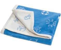 Hippychick - Manta para bebé (forro polar), color azul azul azul Talla:75 x 100